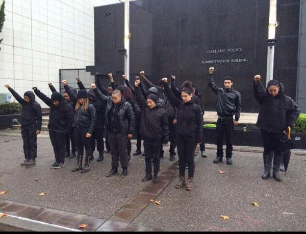 Blackout Collective Shuts Down Oakland Police Department on December 15, 2014